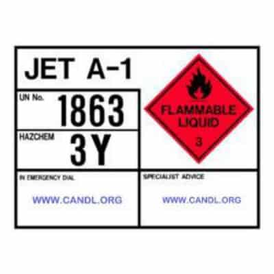 HAZCHEM Jet Sign