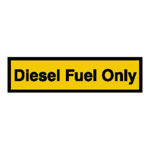 Diesel Fuel Only Sticker