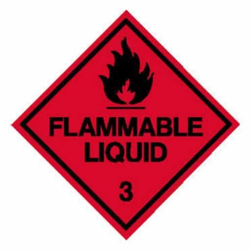 Flammable Liquid Diamond sign