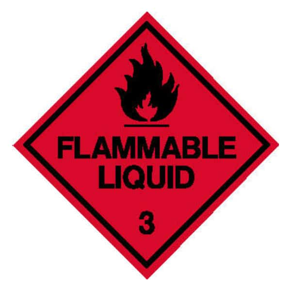 Flammable Liquid Diamond sign