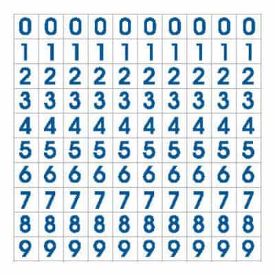 Number sets, small