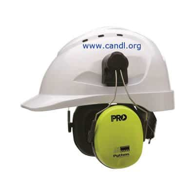Python® Slimline Hard Hat Earmuffs Class 5, - 31dB - ProChoice