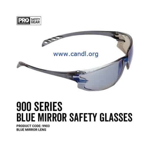 900 Series Safety Glasses Blue Mirror Lens - ProChoice® - 9903