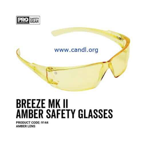 Breeze Markii Safety Glasses Amber Lens - ProChoice® - 9145
