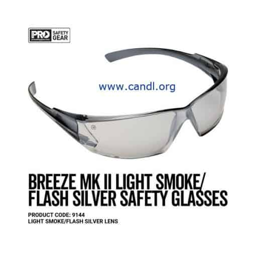 Breeze Markii Safety Glasses Silver Mirror Lens - ProChoice® - 9144