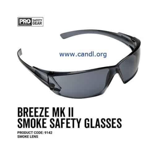 Breeze Markii Safety Glasses Smoke Lens - ProChoice® - 9142