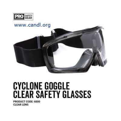 Cyclone Goggle Black Frame Clear or Smoke Lens - ProChoice® 6000