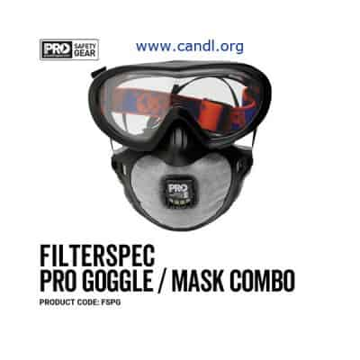 FSPG - Filterspec Pro Goggle / Mask Combo P2+Valve+Carbon