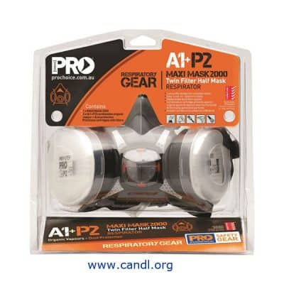 HMA1P2 Assembled Half Mask With A1P2 Cartridges - ProChoice®