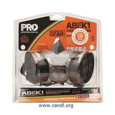 Assembled Half Mask With ABEK1 Cartridges - ProChoice Safety Gear