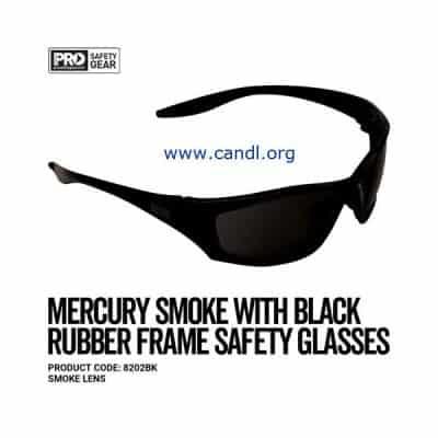 Mercury Black Frame Safety Glasses Smoke Lens - ProChoice® - 8202BK