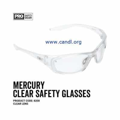 Mercury Safety Glasses Clear Lens - ProChoice® - 8200