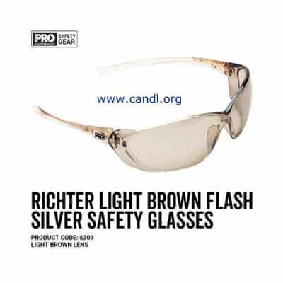Richter Safety Glasses Light Brown Mirror Lens - ProChoice® - 6309