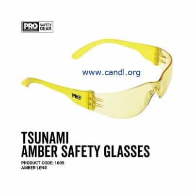 Tsunami Safety Glasses Amber Lens - ProChoice® - 1605