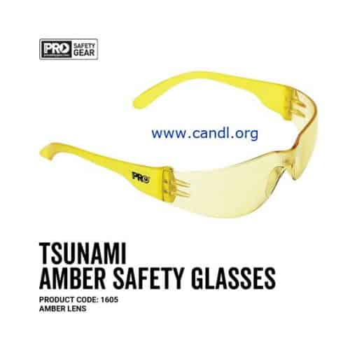 Tsunami Safety Glasses Amber Lens - ProChoice® - 1605