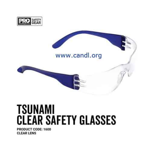 Tsunami Safety Glasses Clear Lens - ProChoice® - 1600
