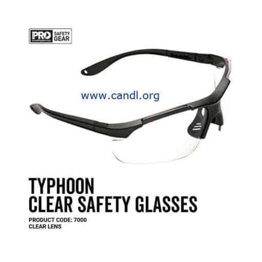 Typhoon Safety Glasses Clear Lens - ProChoice® - 7000