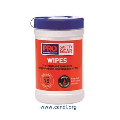 CW75 - Iso Propyl Wipes 75 Wipe Cannister