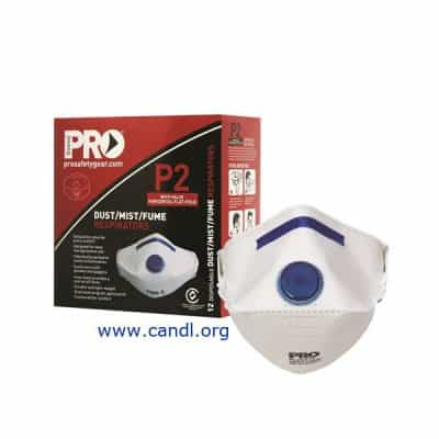 PC2122 - Dust Masks Flat Fold P2+Valve - ProChoice