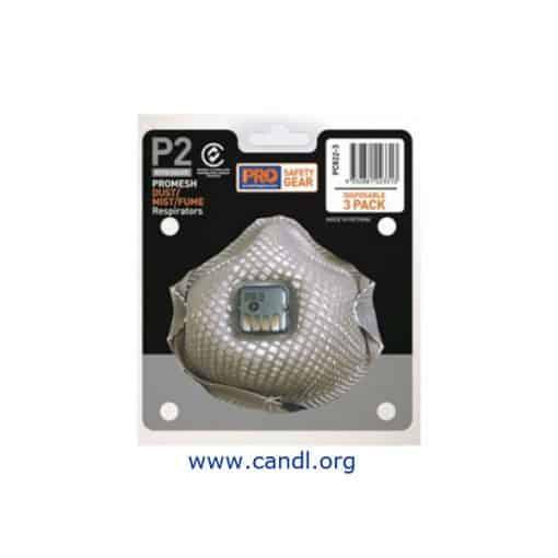 PC822-3 - Dust Masks Promesh P2+Valve - 3 packs