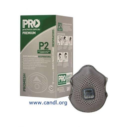 PC823 - Dust Masks Promesh P2+Valve+Carbon