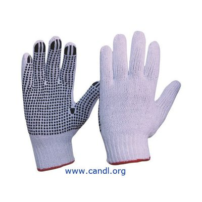 Knitted Poly/Cotton with PVC Dots Gloves