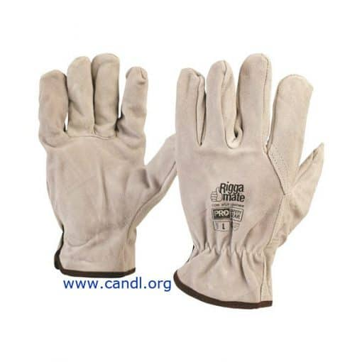 Cowsplit Leather Riggers Gloves