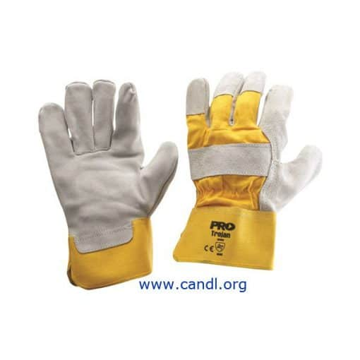 Yellow/Grey Leather Gloves - ProChoice® Safety Gear