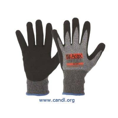 Arax® Latex Crinkle Dip On 13G Liner Gloves