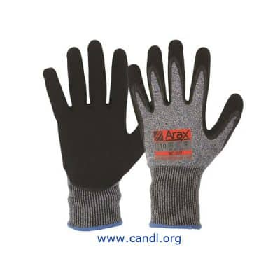 Arax® Nitrile Sand Dip On 13G Liner Gloves