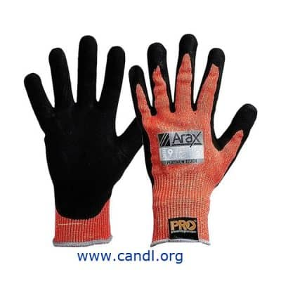 Arax® Platinum PU/Nitrile Foam Dip On Red 13G Liner Gloves
