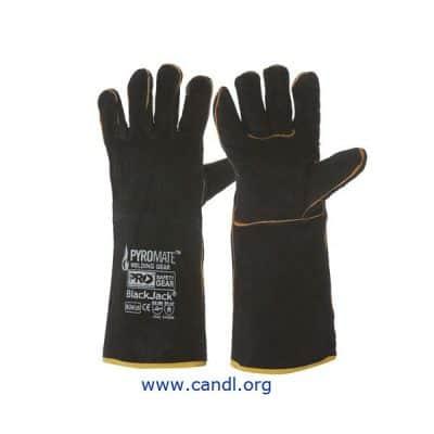 Pyromate® Black Jack® - Black & Gold Gloves