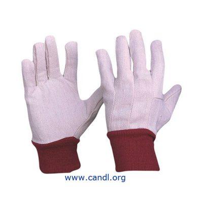 Cotton Drill Knit Wrist Gloves