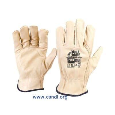 Riggamate Beige Premium Cowgrain Gloves