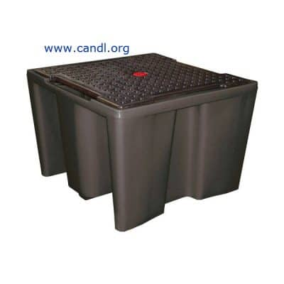 DOT8582 -IBC Bund (PE) with Perforated Plate