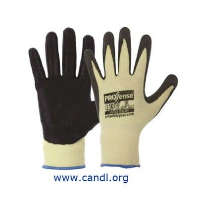 13 Gauge Knitted Kevlar With Black Nitrile Palm Gloves