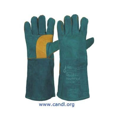 Pyromate® South Paw® Left Hand Pair - Green & Gold Kevlar® Gloves