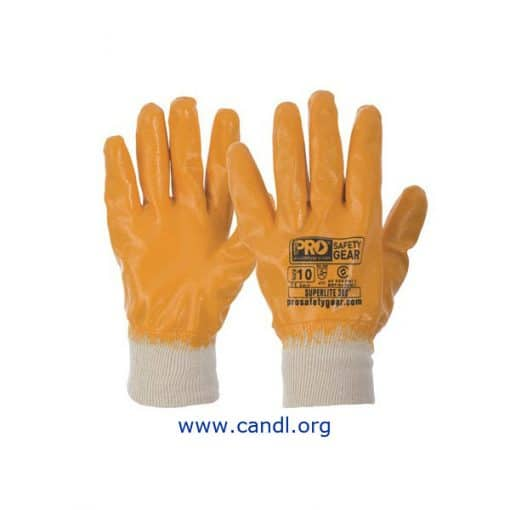 NBRFBY - Super-Lite Orange Fully Dipped Gloves