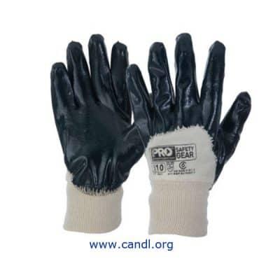 NBRHB -Super-Guard Blue 3/4 Dipped Gloves