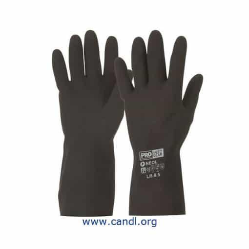 Black 33cm Neoprene Gloves