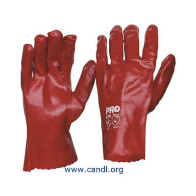 27cm Red PVC Gloves - ProChoice® Safety Gear
