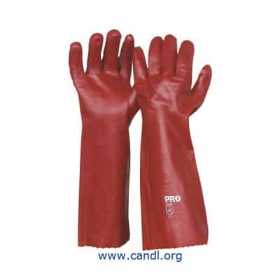 45cm Red PVC Gloves - ProChoice® Safety Gear