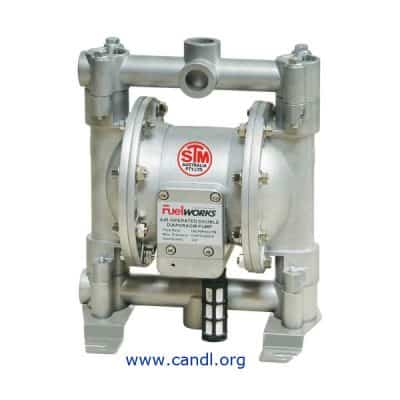 "DITI17150600N - Air Operated Diaphragm Pump - Aluminium 1/2"" 3/4"""