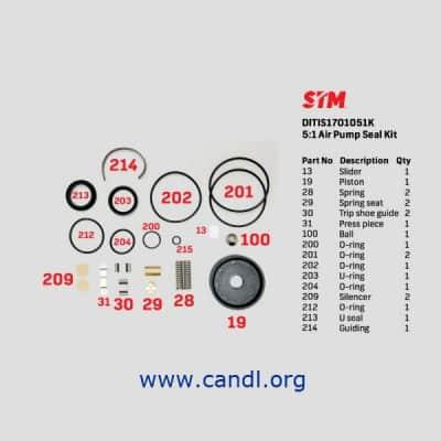 DITIS1701051K - 5:1 Air Pump Seal Kit