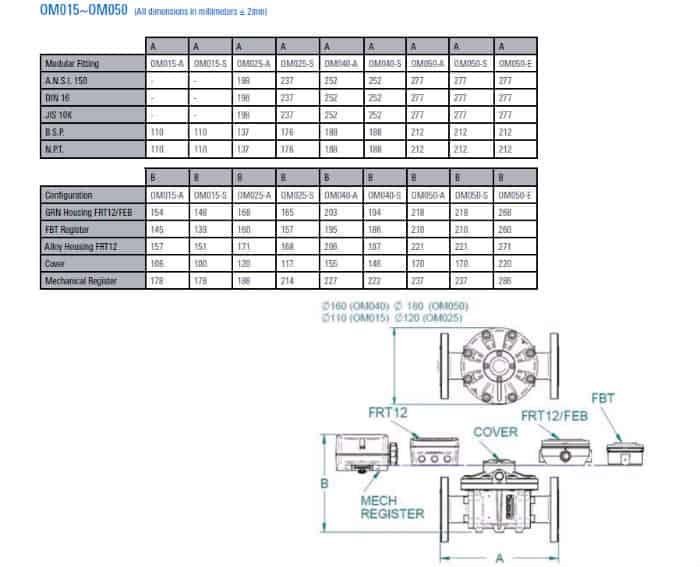 Flomec Medium Capacity Flow Meters Dimensions