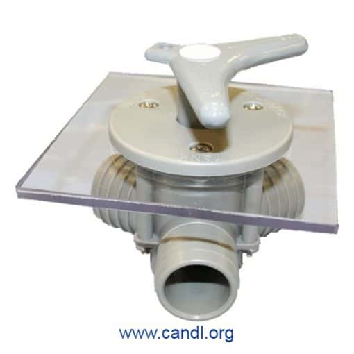 """Sea-lect® YV-095D-F """"Easy-Turning"""" Flush-Mount Y-Valve"""